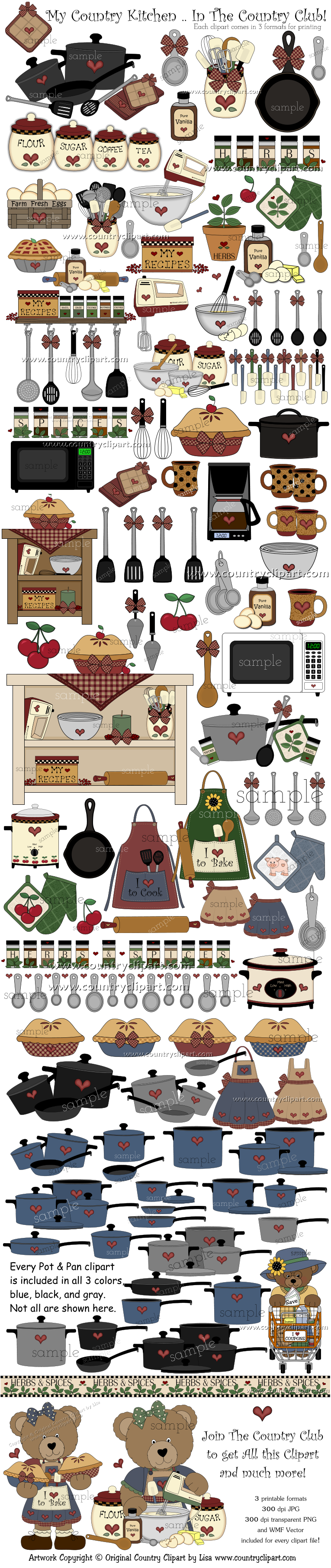 KitchenCookBakeClipArt