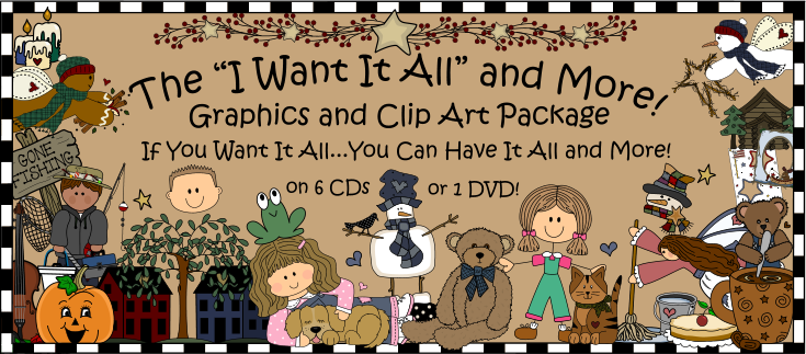 graphics and clipart package i want it all on 6 cds 1 dvd