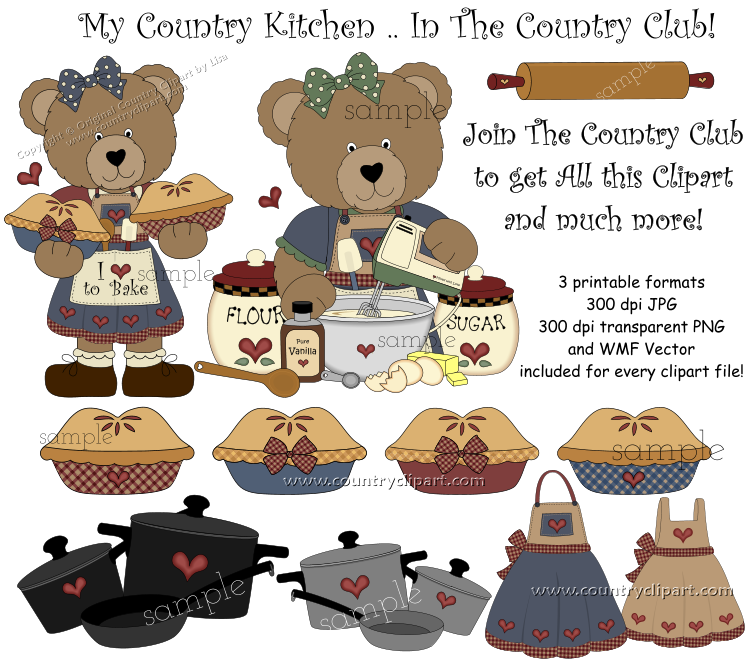 kitchen baking cooking clipart 1