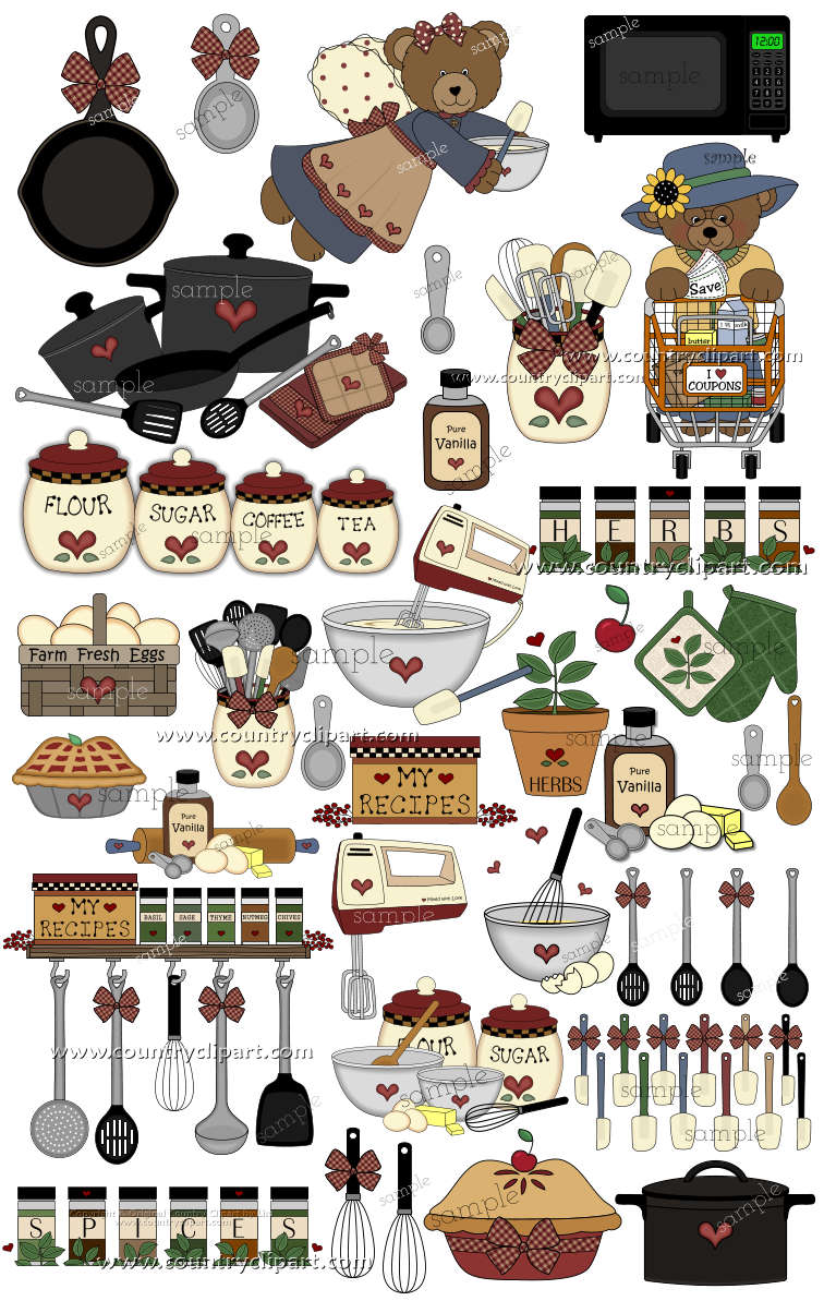 kitchen baking cooking clipart 2