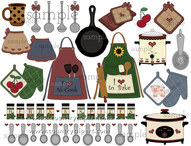 kitchen baking cooking clipart 3