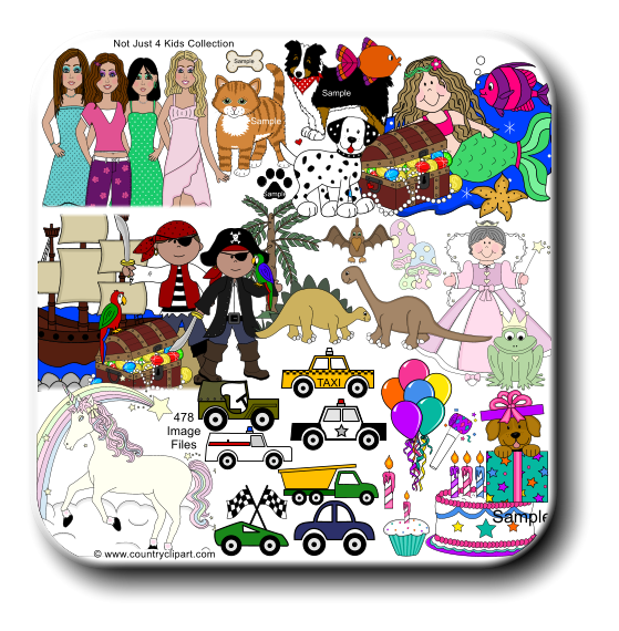 Not Just 4 Kids Cute Clipart