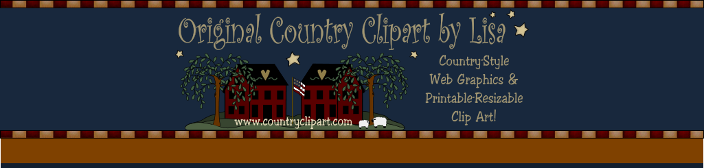 Original Country Clipart by Lisa Country-Style Web Graphics & Printable-Resizable Clip Art!  www.countryclipart.com