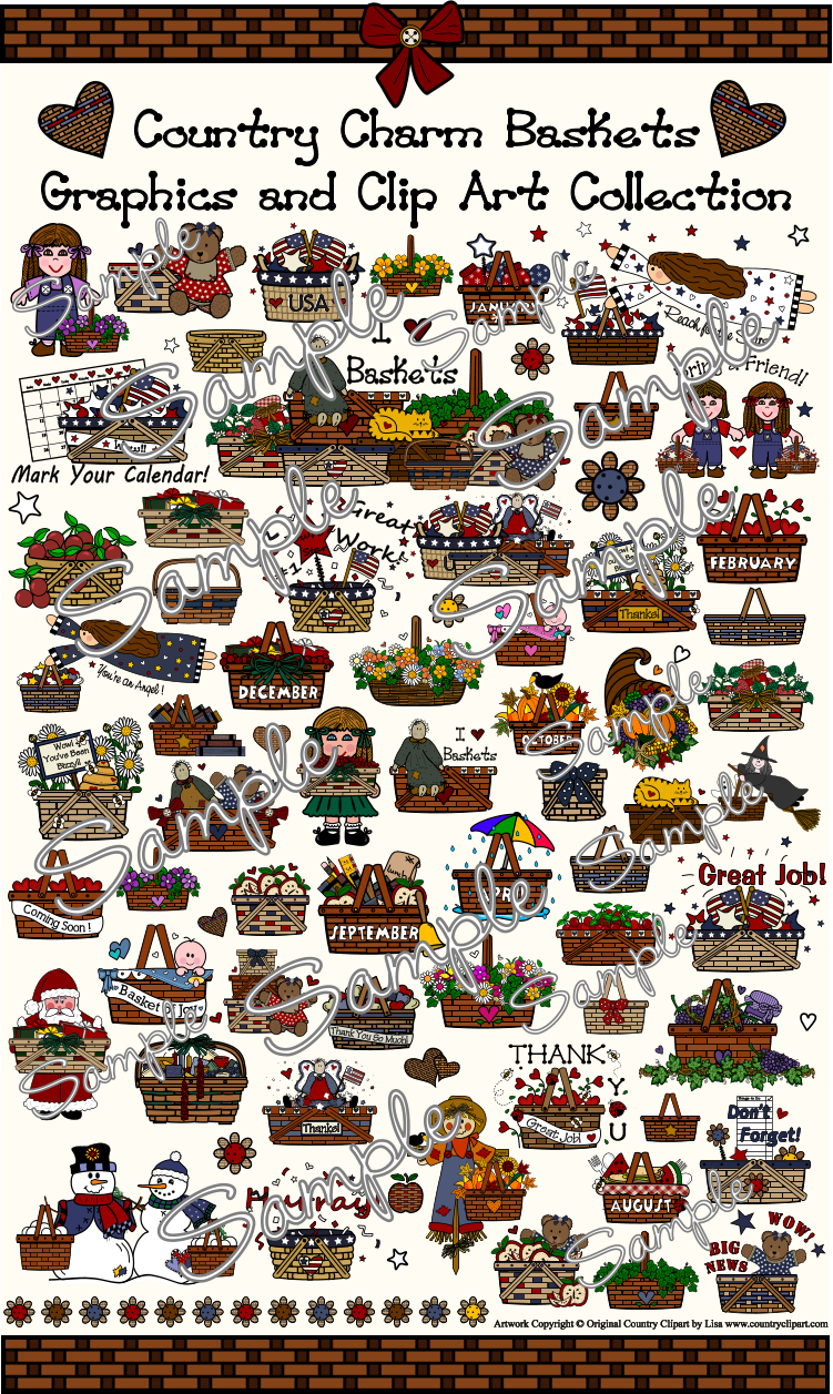 baskets clipart images samples