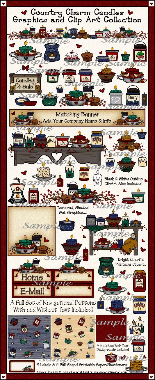 candle clipart samples