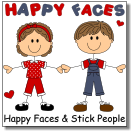 happy-faces-stick-figures