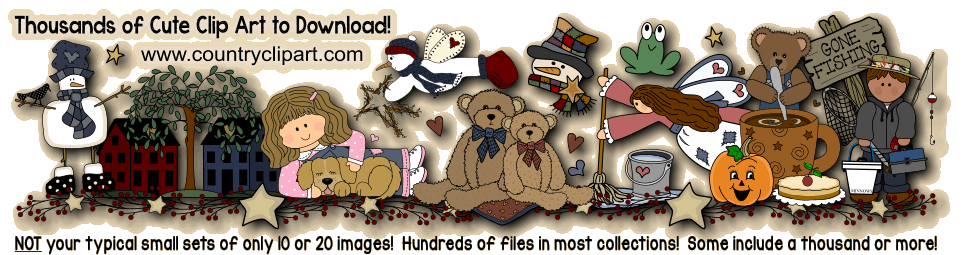 collage of clipart with thousands of cute clip art to download written on it