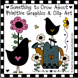 primitive crows graphics clipart product image