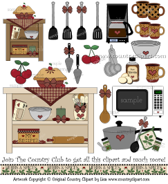 baking cooking kitchen clip art in the club sample 5
