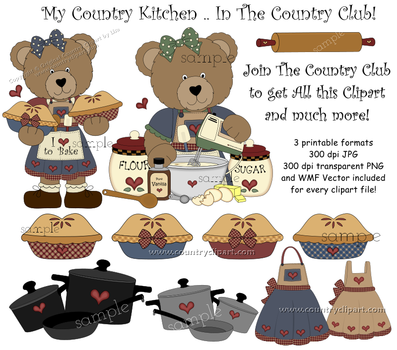 Clipart For Digital Printables And Crafts The Country Club
