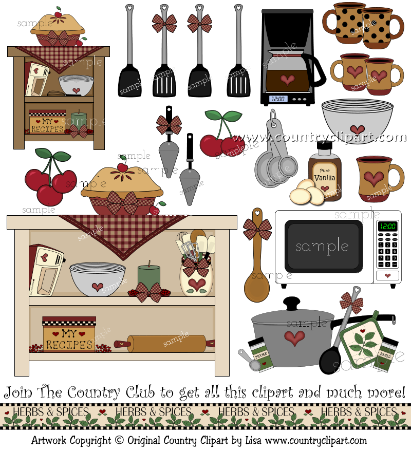 Country Kitchen Recipe Cards
