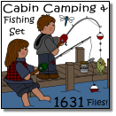 Files! Cabin Camping & Fishing   Set 1631