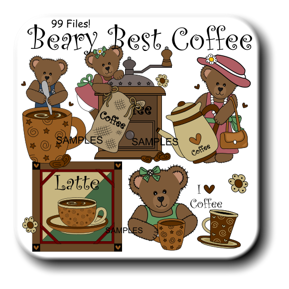 Latte Coffee SAMPLES SAMPLES SAMPLES Beary Best Coffee 99 Files!