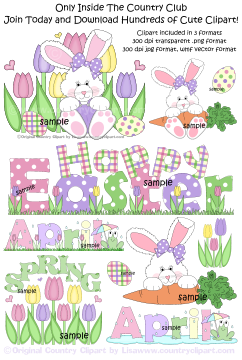 easter clip art in the country club
