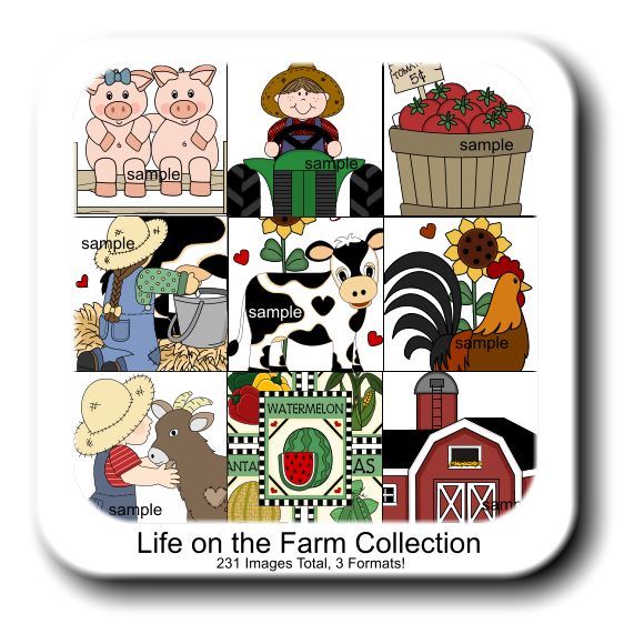 Life on the Farm Collection 231 Images Total, 3 Formats! sample