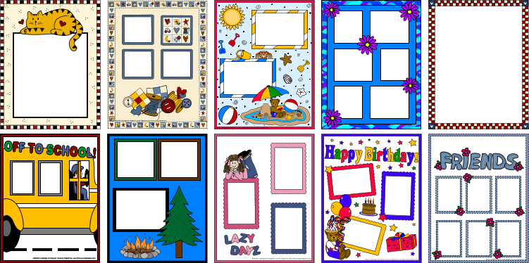 Scrapbooking Clipart Photo Frame Pages Add Your Photos And
