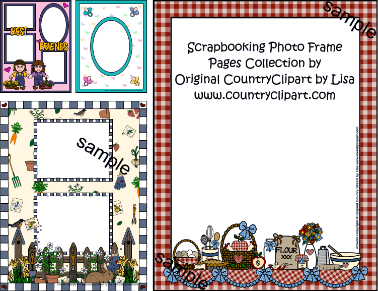 scrapbook photo frame pages clipart collection samples 5