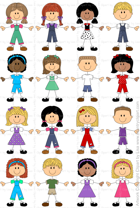 Stick Figures And Faces Family Graphics Country Clipart