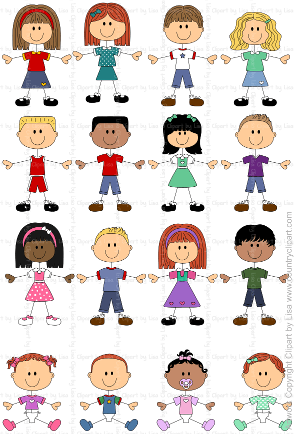 stick figure kids and babies graphics and clipart samples 5