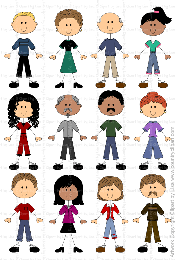 stick figure people graphics and clipart samples 11
