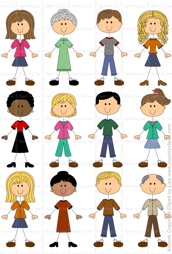 stick figures and faces family graphics country clipart by lisa rh countryclipart com clipart of people doing jigsaws clip art of people walking