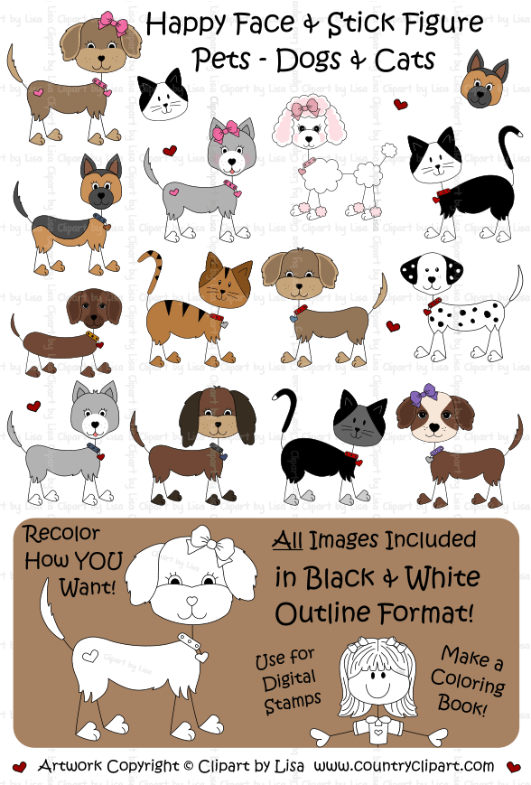 stick figure pets graphics and clipart samples 14